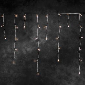 Konstsmide - LED Eisregen Lichtervorhang, 200 warm weiße Dioden, 24V Außentrafo, weißes Kabel ; 2733-102