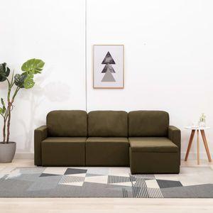 CHIC® Modulares 3-Sitzer-Schlafsofa im skandinavischen Stil|Schlafcouch Lounge Sofa Ecksofa Bettsofa Braun Stoff Größe:216 x 149 x 72 cm※9076