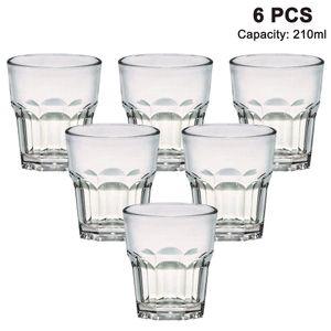 Unzerbrechlich wassergläser fur Camping Party, BPA-frei 210 ml plastik Tasse 6er set