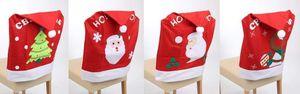 4er Set Stuhlhusse Weihnachten aus Vlies ca. 63 x 49 cm