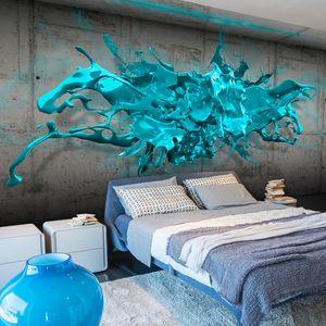 Vlies Tapete  Top  Fototapete  Wandbilder XXL  400x280 cm - WAND BETON FLECK FARBE 3D OPTIK a-A-0186-a-c