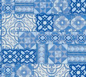 A.S. Création Fliesentapete Il Decoro Vinyltapete blau silber weiß 10,05 m x 0,53 m