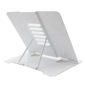 Multi-winkel Metall Tischnotenpult Buchstützen Tischständer Notenstativ Lesepult Buchständer Tablettenständer Weiß