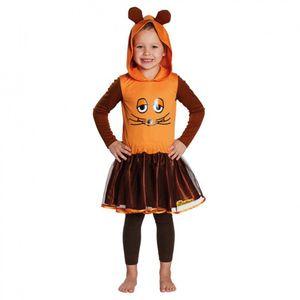 Kostüm Die Maus, Mädchen Kleid orange, Größe:140