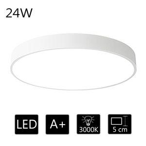 24W Deckenleuchte LED Deckenlampe  ultra dünn runde Lampe  warmweiss 3000k, für Küche Dieler Schlafzimmer Esszimmer Wohnzimmer, 40*40*5cm (Weiß)