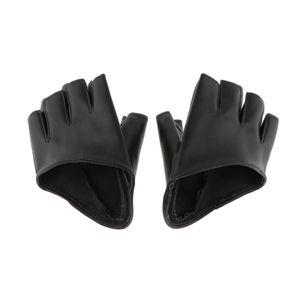 fingerlose Handschuhe für Driving Pole Dance Show Schwarz 4,3 x 4,1 Zoll