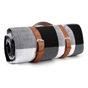 Dadanar picknickdecke 200cm*200cm, Schwarzgrau