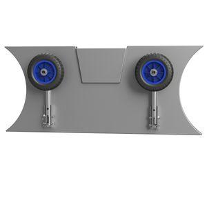 Slipräder, Heckräder, für KLEINE Schlauchboote, SUPROD LD160, Edelstahl, schwarz/blau