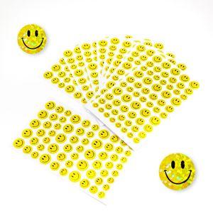 Oblique Unique 620 Smiley Sticker Glitzer Aufkleber Lächeln Emoji Face  - gelb