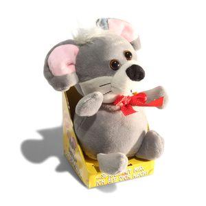 Labermaus- Sprechende Plüsch-Maus mit Aufnahme- und Wiedergabefunktion.