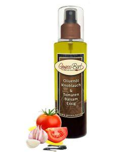 Sprühflasche Salatdressing 0,26L Olivenöl Knoblauch & Balsam Essig Tomate Spray in  Pumpspray Vinaigrette für unterwegs / Büro / Camping