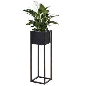 Blumenständer Pflanzkasten 21x21xH70cm Schwarz