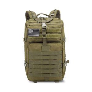 Großer Bundeswehr Rucksack 45l in Oliv (Grün), Militär Kampfrucksack, Molle Army 3-DayPack, US Assault Pack, BW Armee Outdoor Tasche