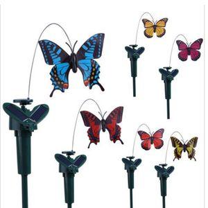 6pcs Tanzender Solar Schmetterling Vogel Kolibri Solarstecker der Hingucker auf Ihrer Terrasse / Blumenbeet / Garten / Balkon / Blumenkopf