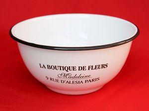 Schüssel 51229 Weiß emailliert 17,5 cm Müslischale Teller Salatschüssel Emaille