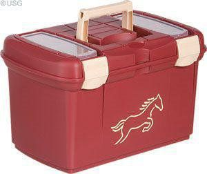 USG Putzkiste Pferdeputzkiste Pferdeputzbox Putzkasten burgund / rot / beige