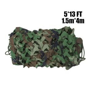1.5m*4m Tarnnetz Military Camouflage Netting Jagd Camping Camo Army Net Woodland Desert Leaves