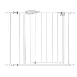 Treppenschutzgitter Türschutzgitter Türgitter Treppen Absperrgitter ohne Bohren, Farbe:Weisses Gitter mit 7cm Verlängerung