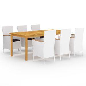 Gartenmöbel Essgruppe 6 Personen ,7-TLG. Terrassenmöbel Balkonset Sitzgruppe: Tisch mit 6 Stühle,❀6041
