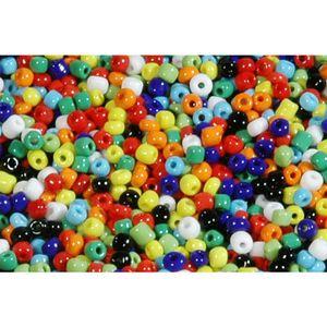 6/0 4mm Rocailles Perlen Bunt Mix, opak - 1kg Großpackung ca. 13.300 Perlen