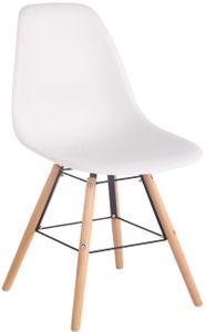 CLP Gartenstuhl Tippo mit Kunststoff-Sitzschale, Farbe:weiß, Gestell Farbe:Natura