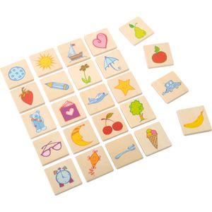 EDUPLAY 110270 Erkennungsschilder Gegenstände Holz 3,5 x 3,5 cm, mehrfarbig, 24-teilig (1 Set)