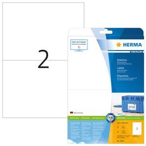 Etiketten Premium A4, weiß 210x148 mm Papier matt 50 St.