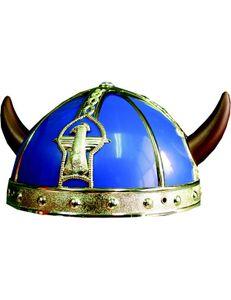Wikinger Helm für Kinder blau-gold