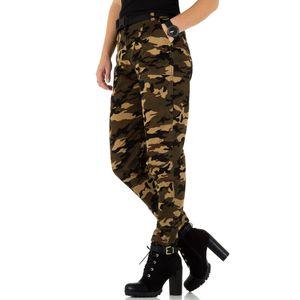 Ital-Design Damen Jeans High Waist Jeans Khaki Gr.s/36