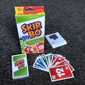 1x Skip-Bo Kartenspiel und Familienspiel geeignet für 2 - 6 Spieler, Spiel ab 7 Jahren