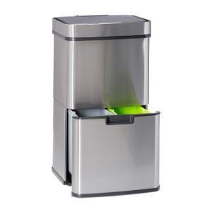 relaxdays Mülltrennsystem 3-fach mit Sensor