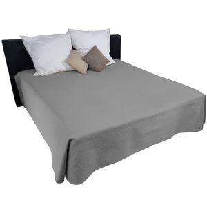 Bettüberwurf Nova - Zweiseitige Tagesdecke mit Ultrasonic Steppung, Farbe:Grau / Anthrazit, Größe:250x280 cm