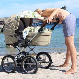 Sonnensegel für Kinderwagen mit UV Schutz 80! Design 'Magic Garden' I Tropisch
