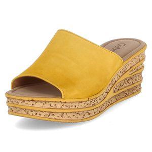 Gabor Pantoletten Gelb Damen
