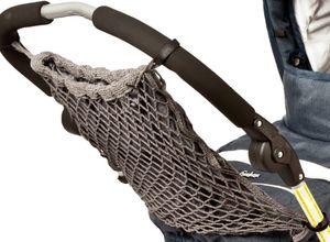 Altabebe - Netz-Einkaufstasche mit Innenfutter für Kinderwagen - Grau, Onesize