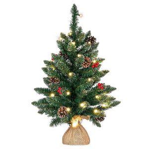 Weihnachtsbaum künstlich mit 50er LED Lichterkette warmweiß 90cm hoch XI11923