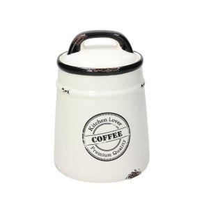Kaffeedose Urban Chic aus weißer Keramik, von Tognana