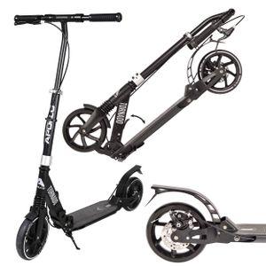 """Apollo City Scooter """"Tornado Pro""""  mit Bremse und Federung klapp- und höhenverstellbarer Cityroller - schwarz/silber"""