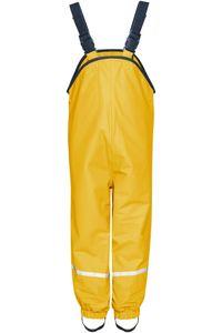 Playshoes Regenhose Fleece-Trägerhose gelb Mädchen 408622-12, Farbe Playshoes:gelb, Größe Playshoes:98