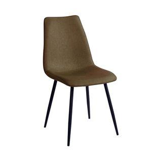 SVITA 2er Set Esszimmerstühle Stuhlgruppe Metallbeine Polsterstuhl Küchenstuhl Konferenzstuhl Polyester Oliv