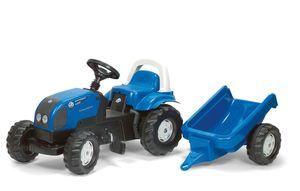 rolly toys Kid Landini Power Farm 100 Trettraktor mit Anhänger, Maße: 134x47x52 cm; 01 184 1