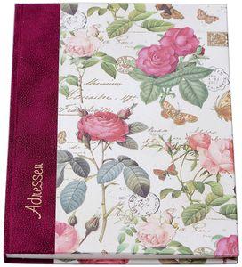 """Adressbuch """"Rosen"""" - A5, 24-tlg. Register"""