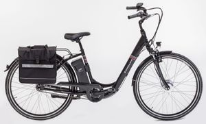 Zündapp Alu-City-Damen-E-Bike Green 3.0 mit Packtasche und 2. Akku, 26 Zoll