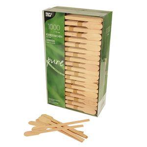 5000 Biologisch abbaubare und nachhaltige Rührstäbchen, Holz  pure  13 cm