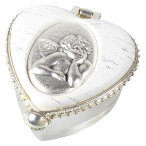 Rosenkranzdose Engel - herzförmig, 4 x 3 cm