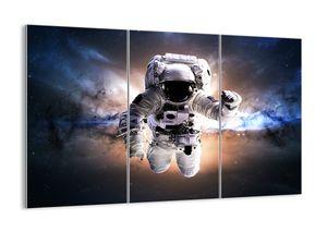 "Glasbild - 165x110 cm - ""Grüße aus dem Weltraum""- Wandbilder  - Astronaut Weltraum - Arttor - GCE165x110-2848"