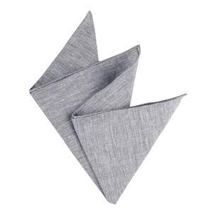 Olymp Einstecktuch Leinen grau melange , Einheitsgroesse:one size
