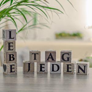 Letter Block, Buchstaben Würfel, Holzwürfel - Text selbstgestalten