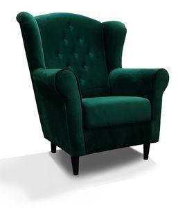Sessel für Wohnzimmer Flasche Grün LORD IX Fernsehsessel im Skandinavisch Stil