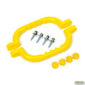 Handgriffe für Spielgeräte und Klettergerüste, per Paar aus HDPE Kunststoff gelb